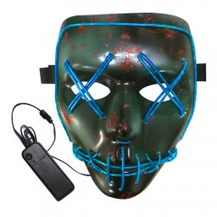 BRELONG Halloween Mask Green Full Blood Horror EL  BLUE
