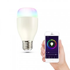 LWE1 E27 Smart WiFi RGBW LED Light Bulb Dimmable f WHITE 1PCS