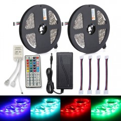 ZDM 2PCS 150 x 5050 RGB LED Strip Light 44Key IR R RGB UK