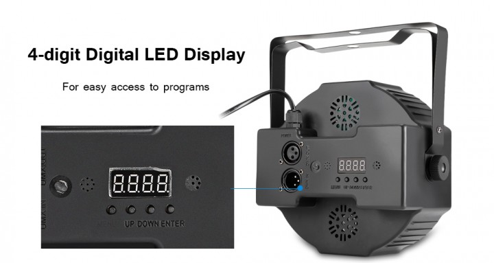 HP005 / 2A - M RGB 36 LEDs Digital Display Par Light with Remote Controller