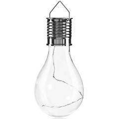 Solar Energy Copper Wire Bulb Hanging Lamp WHITE WARM WRITE