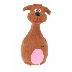 Lovely Latex Animal Modeling Pet Toy  BROWN