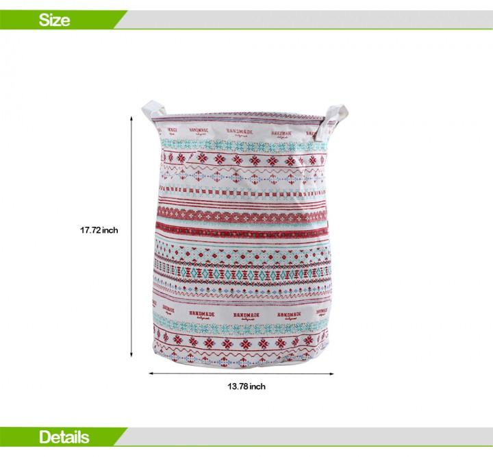 Multipurpose Cotton Linen Collapsible Laundry Basket Dirty Clothes Storage Hamper
