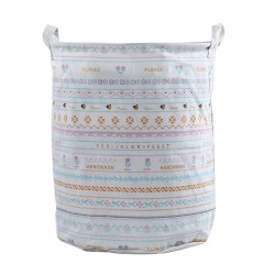Multipurpose Cotton Linen Collapsible Laundry Bask COLORMIX 01