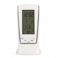 LED Digital Temperature Alarm Clock WHITE
