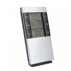 Digital Temperature Humidity Alarm Clock WHITE