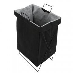 Foldable Linen Storage Laundry Basket BLACK