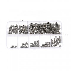 200pcs Stainless Steel Allen Head Socket Hex Grub  SILVER