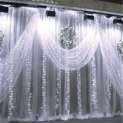 SUPli 300 LED Window Curtain String Light for Wedd WHITE US AC110-130V