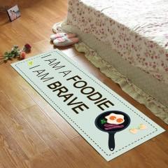 Kitchen Floor Mat Simple Letters Pattern Rectangle COLORMIX 80X120CM