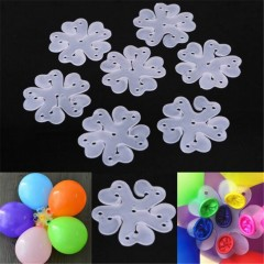 10PCS 6.5CM Useful Flower Shape Balloons Sealing C TRANSPARENT