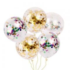 Party Confetti Gold Glitter Balloons Wedding Decor MULTI-A