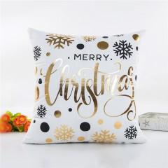 Christmas Decoration Pillowcase Snowflake Pillow C WHITE