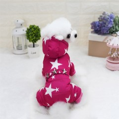 Lovoyager A17 Lovoyager Pet Clothing with Stars Wi PINK S