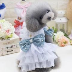 Lovoyager E7 Fashion Denim Dog Dress Pets Puppy Pr LIGHT BLUE S
