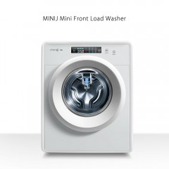 Mini Front Load Washing Machine Low Noise Operatio SILVER