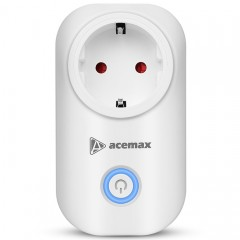 ACEMAX SM - PW701K Smart WiFi Plug Outlet Socket W WHITE UK PLUG
