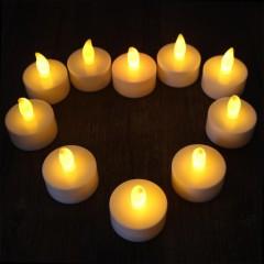 Romantic LED Candle Light 10PCS WHITE