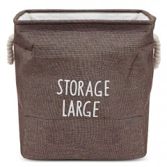 Large Size Cotton Foldable Laundry Hamper Toys Sto BROWN