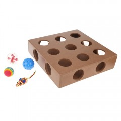 Pet Kitty Puzzle Toys Play Scratching Hide Seek Ca BROWN