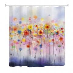 Polyester Shower Curtain Bathroom Curtain High Def MULTICOLOR W59 INCH * L71 INCH