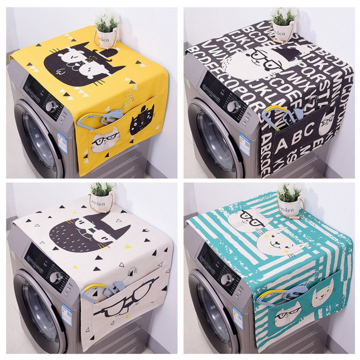 Lovely Pattern Dust Cover for Refrigerator Drum Washing Machine