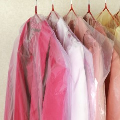 Clothing Dust-proof Cover Garment Bag 15in1-Set PINK (90CM X 10) + (125 X 5)