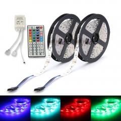 ZDM 2PCS 5M 150 x 5050 RGB  LED Strip Light 44Key  RGB