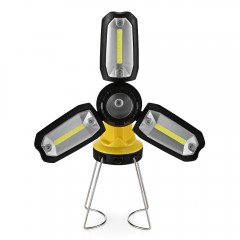 Multi-function Foldable Working Light Rechargeable BRIGHT YELLOW