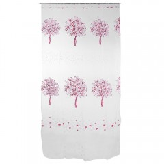 Home Decor Tree Pattern Semi Sheer Curtain Drape P PINK