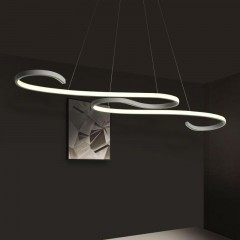Modern  Line Shape Acrylic LED Pendant Lamp for Di WHITE EU AC220-240
