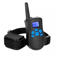 Rechargeable Remote Dog Training Collar 150m Range BLACK EU