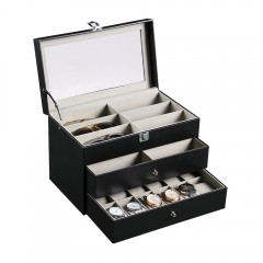 Three-tiered Portable Glasses Watches Storage Box  NIGHT