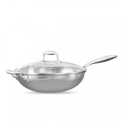 Mi Home Stainless Steel Saute Pan Uncoated Healthy SILVER