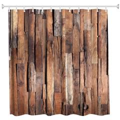 Hardwood Flooring 1 Polyester Shower Curtain Bathr COLORMIX W71 INCH * L79 INCH