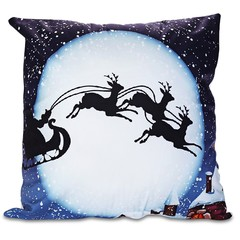 Printed Pillowcase Soft Sofa Cushion Cover Christm COLORMIX