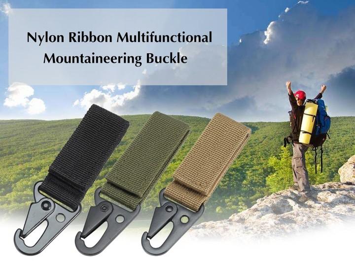 Outdoor Nylon Ribbon Multifunctional Mountaineering Buckle