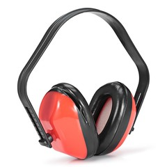 Soundproof Anti-noise Earmuffs Mute Headphones for Study Work Sleep BEAN RED