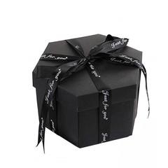Creative DIY Explosion Box Love Memory Photo Album Birthday Anniversary Gifts BLACK