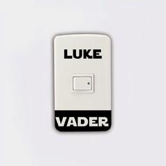 Light Switch Sticker Darth Vader Luke Skywalker Vinyl Wall Stickers Home Decor BLACK 5.2 X 7.5 CM