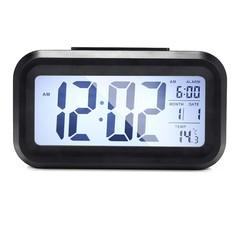 Digital LCD Display Alarm Clock with Backlight BLACK