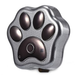 RF-V30 Smart WiFi Pet GPS Tracker IP66 Waterproof Collar Locator Safety Alarm for Dog Cat BLACK