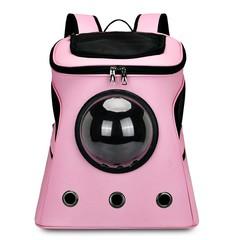 Portable Outdoor Cat Dog Bag Flight Case Large Capacity Backpack LIGHT PINK
