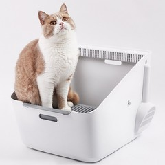Inductive Purify Smell Cat Toilet from Xiaomi youpin WHITE