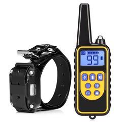 Dog Shock Collar Remote Control Waterproof Electric 875 Yard Large Pet Training BLACK EU PLUG