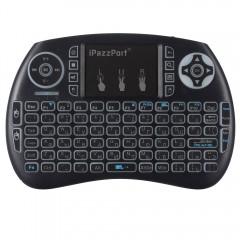 iPazzPort 3-color Backlit Wireless Mini Keyboard a BLACK