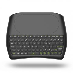 D8 Portable Wireless Mini Keyboard Touchpad with C BLACK