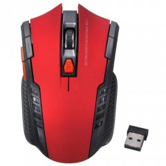 2.4Ghz Wireless Optical Gaming Mouse Mice USB Rece RED