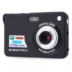 18MP HD 2.7 inch TFT 8X Digital Zoom Camera BLACK EU PLUG