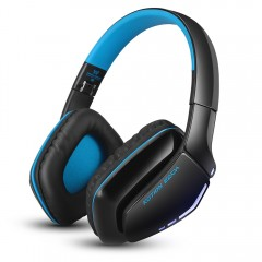 KOTION EACH B3506 Wired Wireless Bluetooth 4.1 Pro BLUE AND BLACK